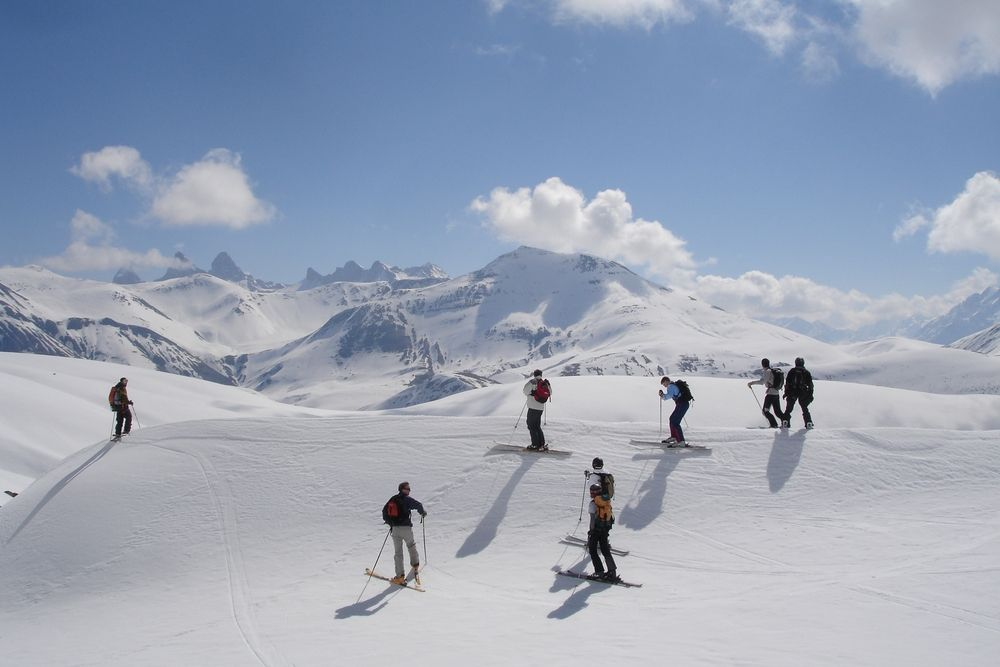 Off piste with guides